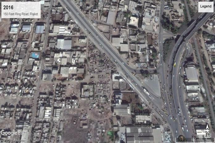 वर्ष 2016ः 150 फीट रिंग रोड, रोजकोट, गुजरात